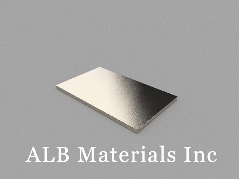 B50x30x2mm Neodymium Magnet, 50 x 30 x 2mm Block Magnet