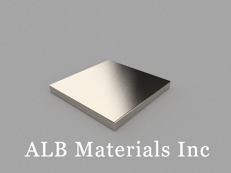 B-W50H5L50-N35 Neodymium Magnet, 50x50x5mm Block Magnet