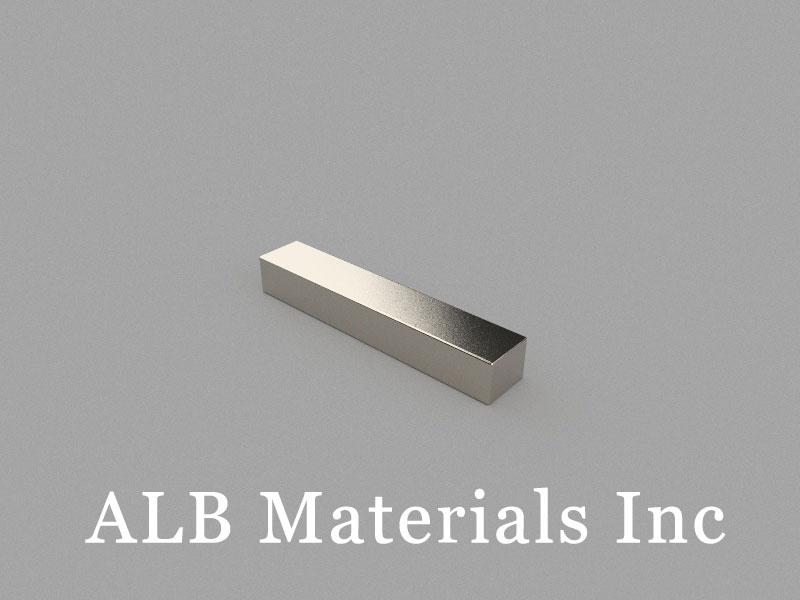 B-W10H8L55-N48BE Neodymium Magnet, 55x10x8mm Block Magnet