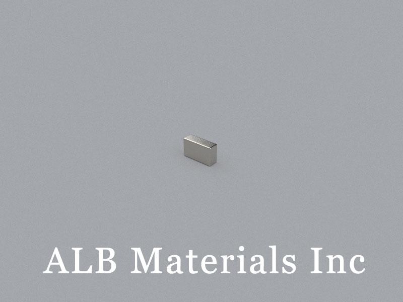 B-W1.7H3L5-N50 Neodymium Magnet, 5x1.7x3mm Block Magnet