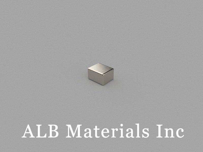 B-W4H3L5-N42SHE Neodymium Magnet, 5x4x3mm Block Magnet