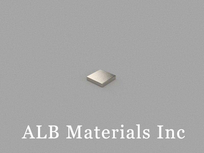B-W5H1L5-N50 Neodymium Magnet, 5x5x1mm Block Magnet