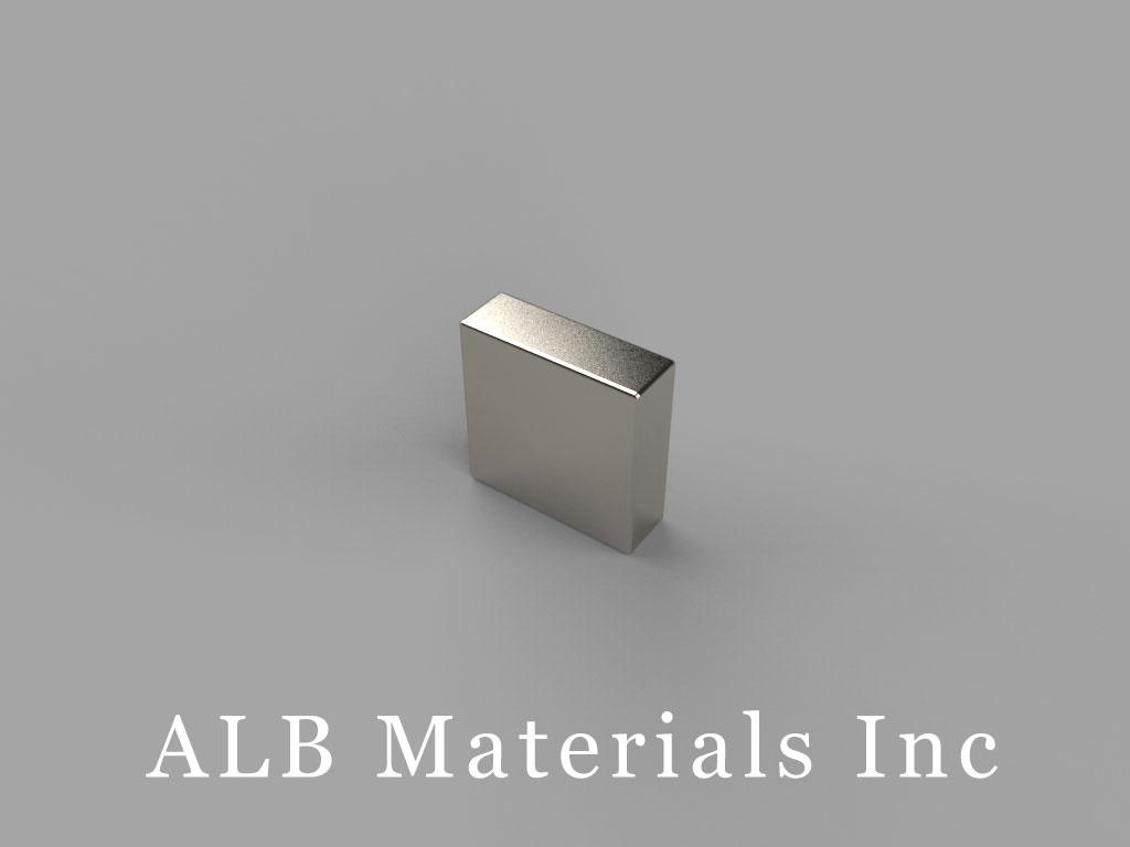 """B626 Neodymium Magnets, 3/8"""" x 1/8"""" x 3/8"""" thick"""