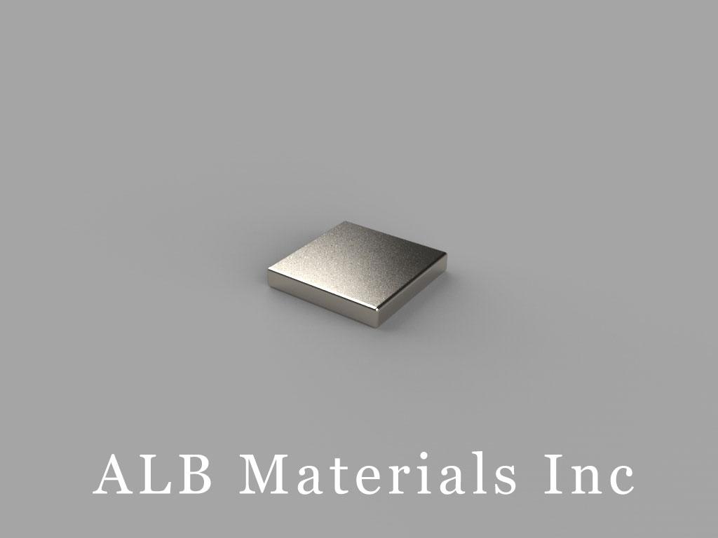 B661 Neodymium Magnets, 3/8 inch x 3/8 inch x 1/16 inch thick