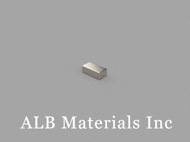 B-W3H2L6-N48 Neodymium Magnet, 6x3x2mm Block Magnet