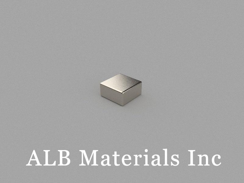 B-W6H3L6-N48 Neodymium Magnet, 6x6x3mm Block Magnet