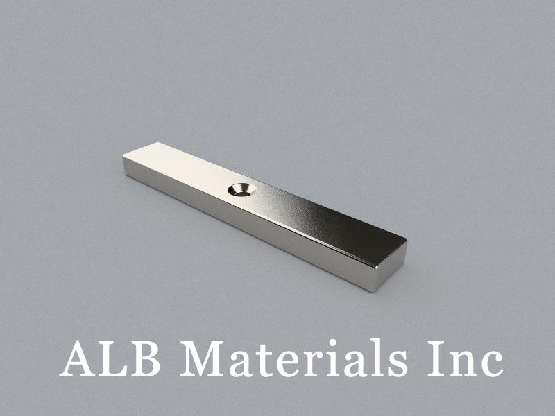 CB-W12H6L75D3.4/D6.4 Neodymium Magnet, 75x12x6mm with countersunk hole d3.4/6.4 Block Magnet