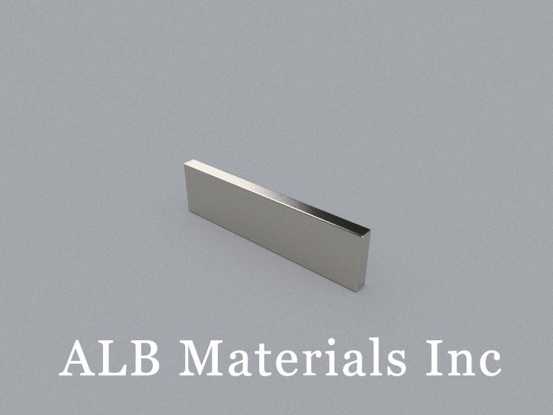 B-W5H20L75-N48 Neodymium Magnet, 75x5x20mm Block Magnet