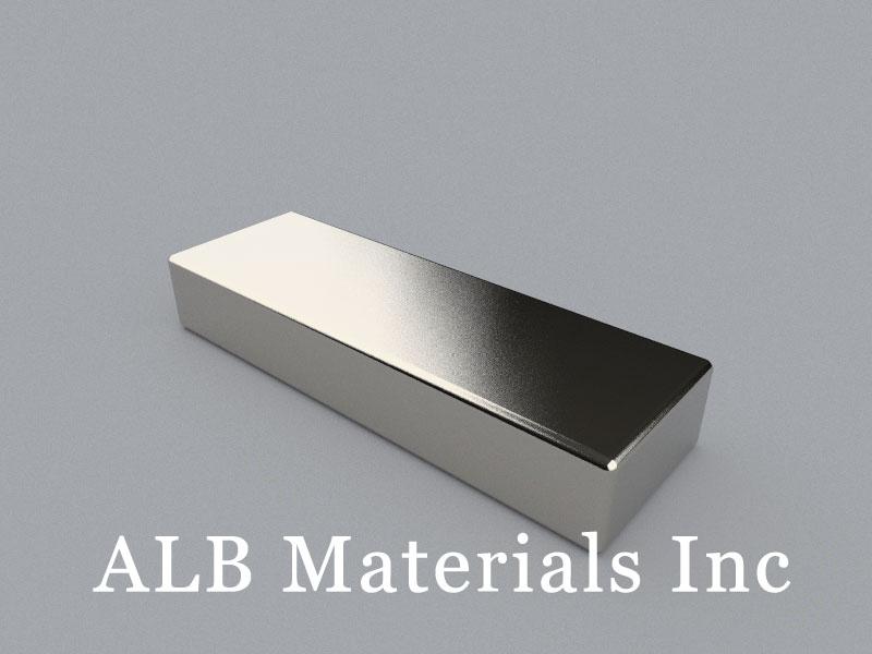 B-W25.4H12.7L76.2-N45 Neodymium Magnet, 76.2x25.4x12.7mm Block Magnet