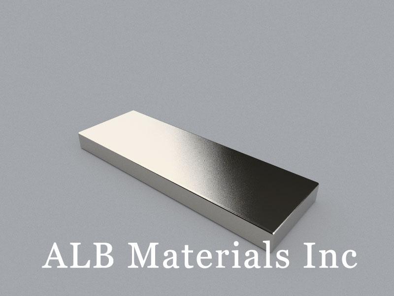 B-W25.4H6.35L76.2-N42 Neodymium Magnet, 76.2x25.4x6.35mm Block Magnet