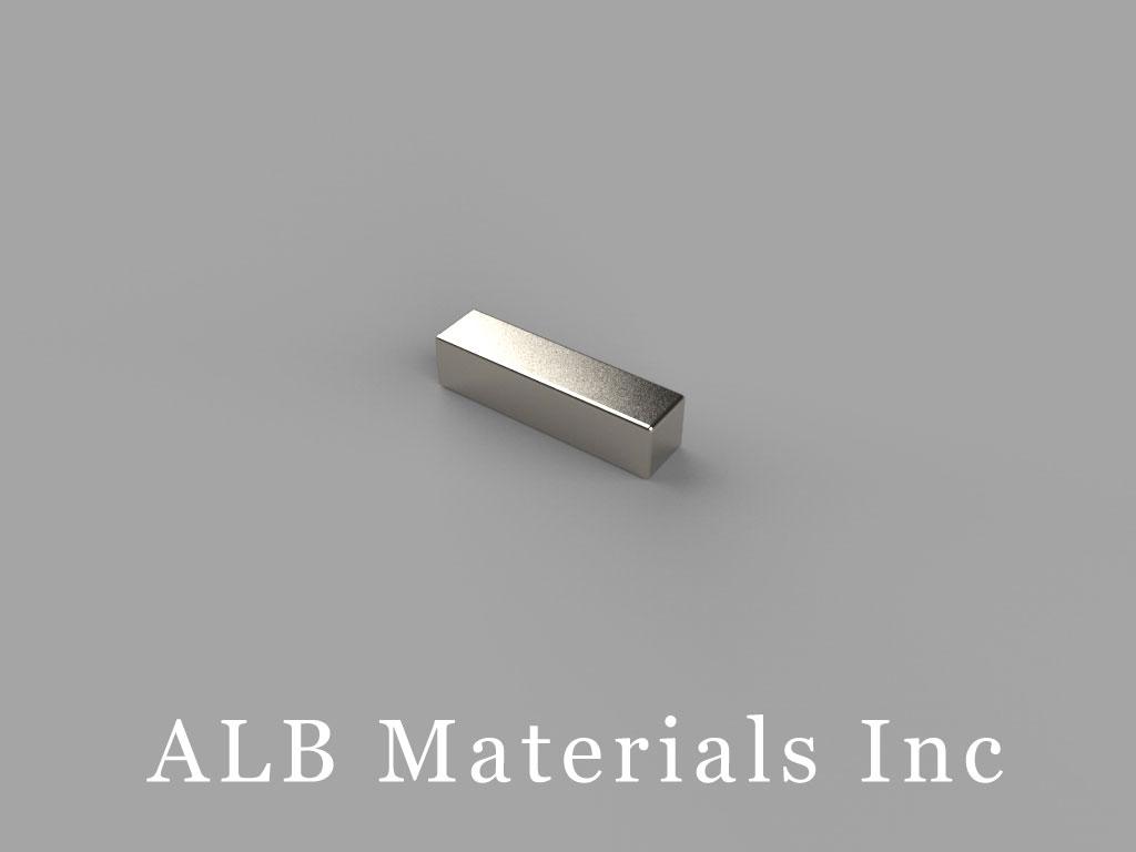 """B822 Neodymium Magnets, 1/2"""" x 1/8"""" x 1/8"""" thick"""