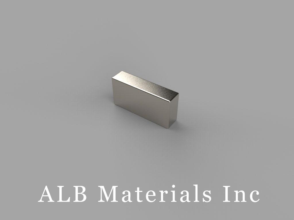 """B824 Neodymium Magnets, 1/2"""" x 1/8"""" x 1/4"""" thick"""
