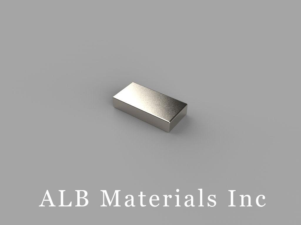 """B84H1 Neodymium Magnets, 1/2"""" x 1/4"""" x 1/10"""" thick"""