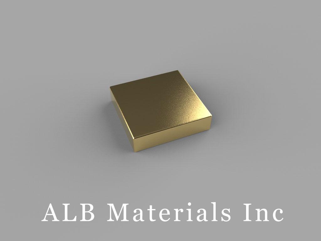B882G-N52 Neodymium Magnets, 1/2 inch x 1/2 inch x 1/8 inch thick