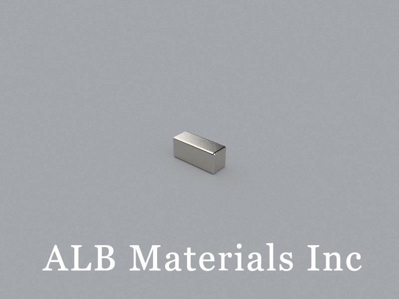 B-W3H3.5L8-N50 Neodymium Magnet, 8x3x3.5mm Block Magnet