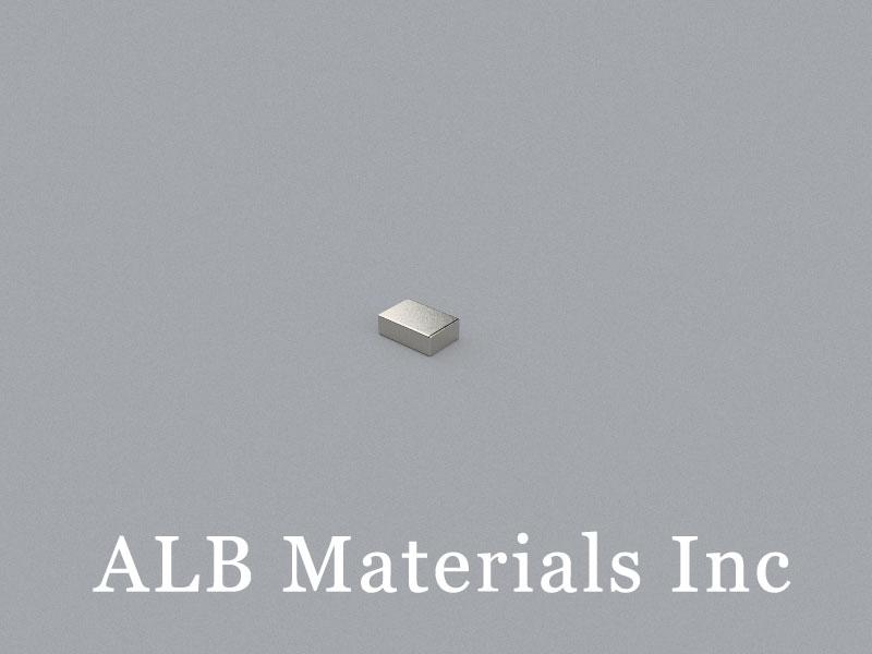 B-W6.35H3.175L9.52-N52 Neodymium Magnet, 9.52x6.35x3.175mm Block Magnet