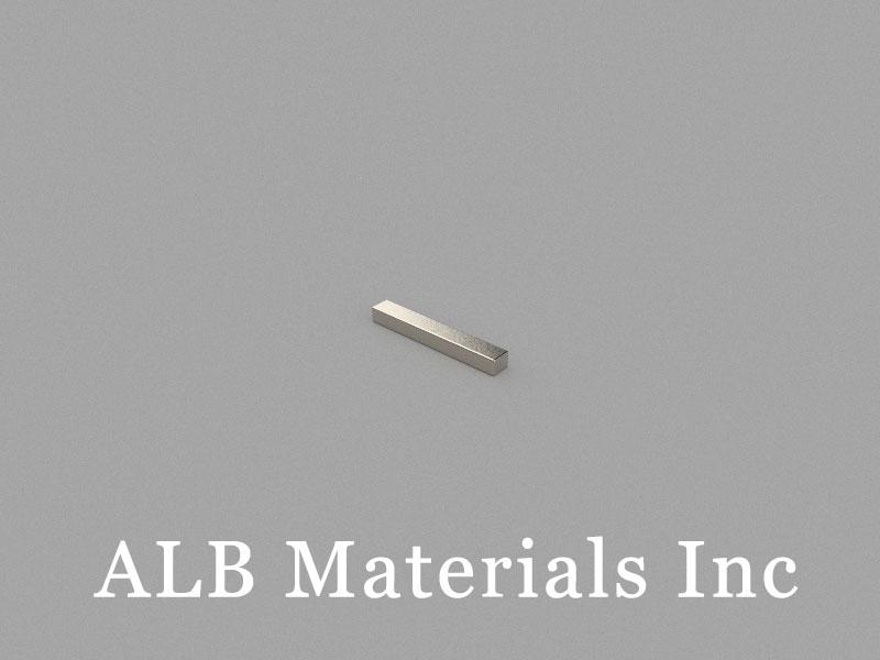 B-W1.3H1L9-N48H Neodymium Magnet, 9x1.3x1mm Block Magnet