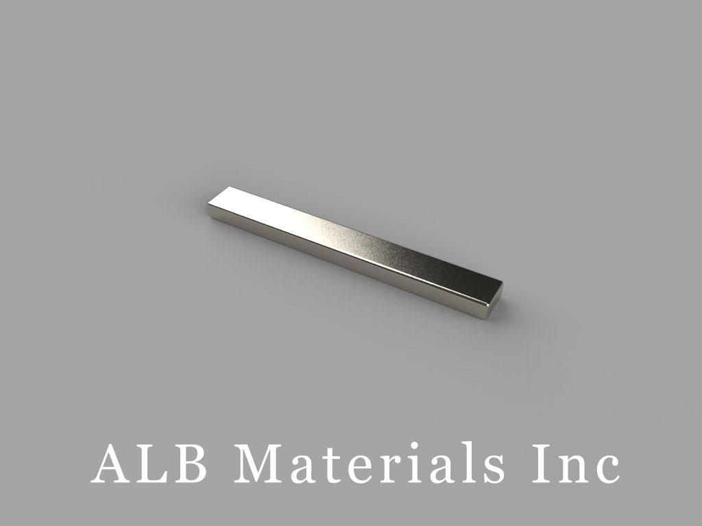 """BX021 Neodymium Magnets, 1"""" x 1/8"""" x 1/16"""" thick"""