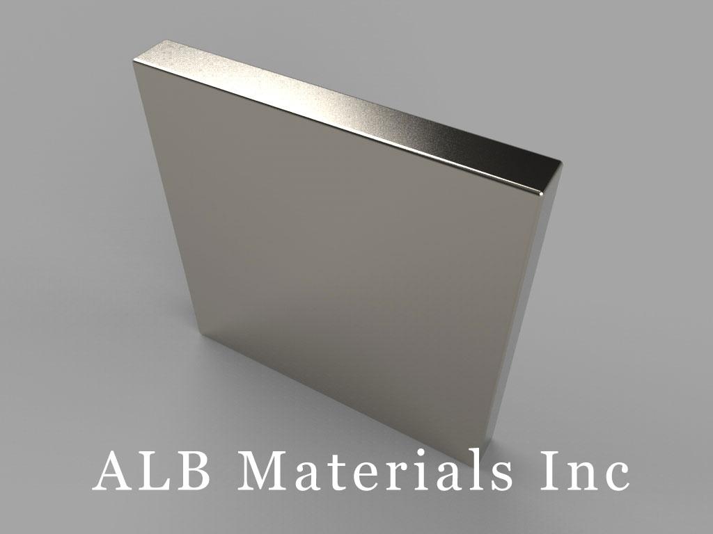 "BX02X0 Neodymium Magnets, 1"" x 1/8"" x 1"" thick"