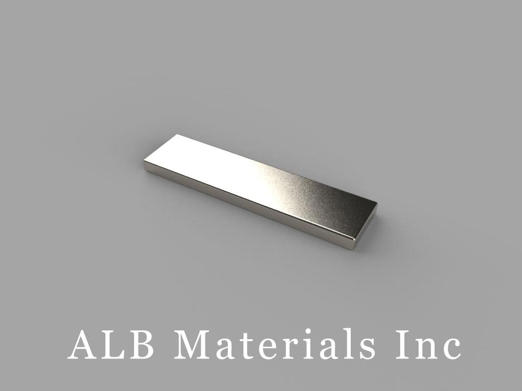 """BX041 Neodymium Magnets, 1"""" x 1/4"""" x 1/16"""" thick"""