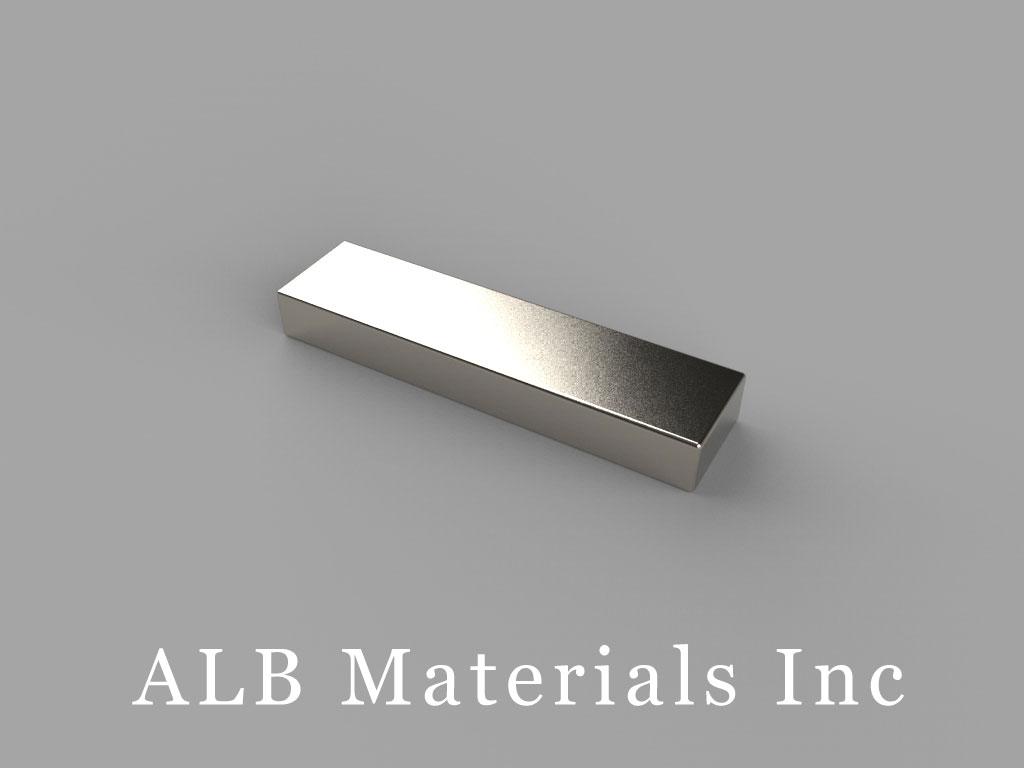"""BX042 Neodymium Magnets, 1"""" x 1/4"""" x 1/8"""" thick"""