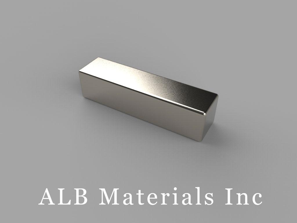 BX044-N52 Neodymium Magnets, 1 inch x 1/4 inch x 1/4 inch thick