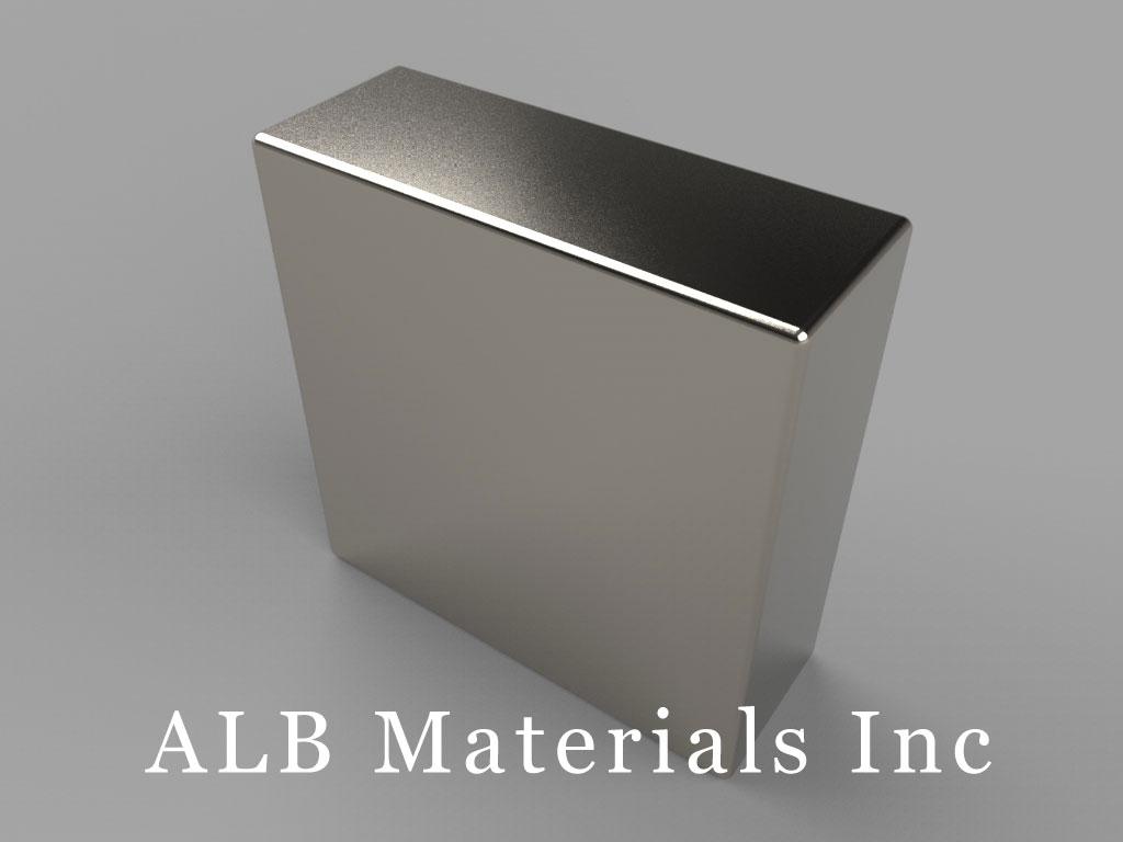 "BX06X0 Neodymium Magnets, 1"" x 3/8"" x 1"" thick"