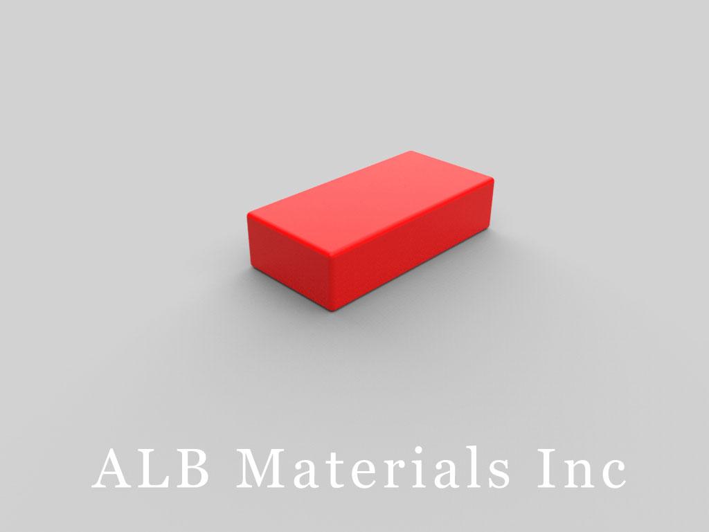 BX084PC-RED Plastic Coated Neodymium Magnets