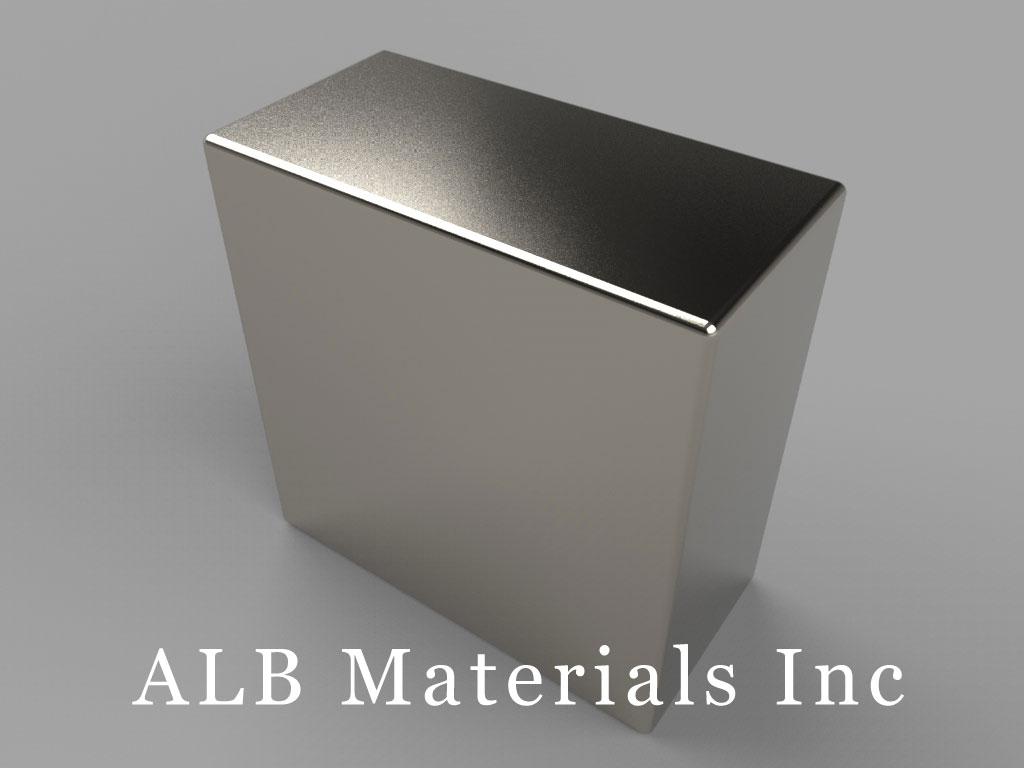"BX08X0-N40 Neodymium Block Magnets, 1"" x 1/2"" x 1"" thick, Pull force(lbs): 68.25, Max Temp 80°C"