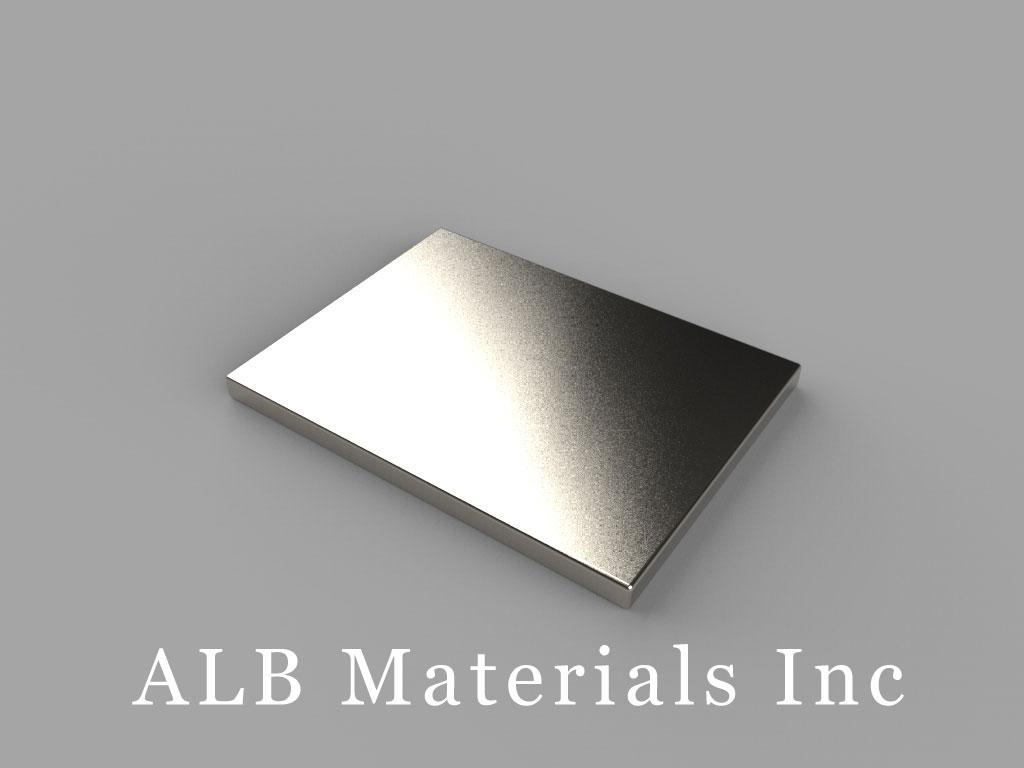 """BX0C1 Neodymium Magnets, 1"""" x 3/4"""" x 1/16"""" thick"""