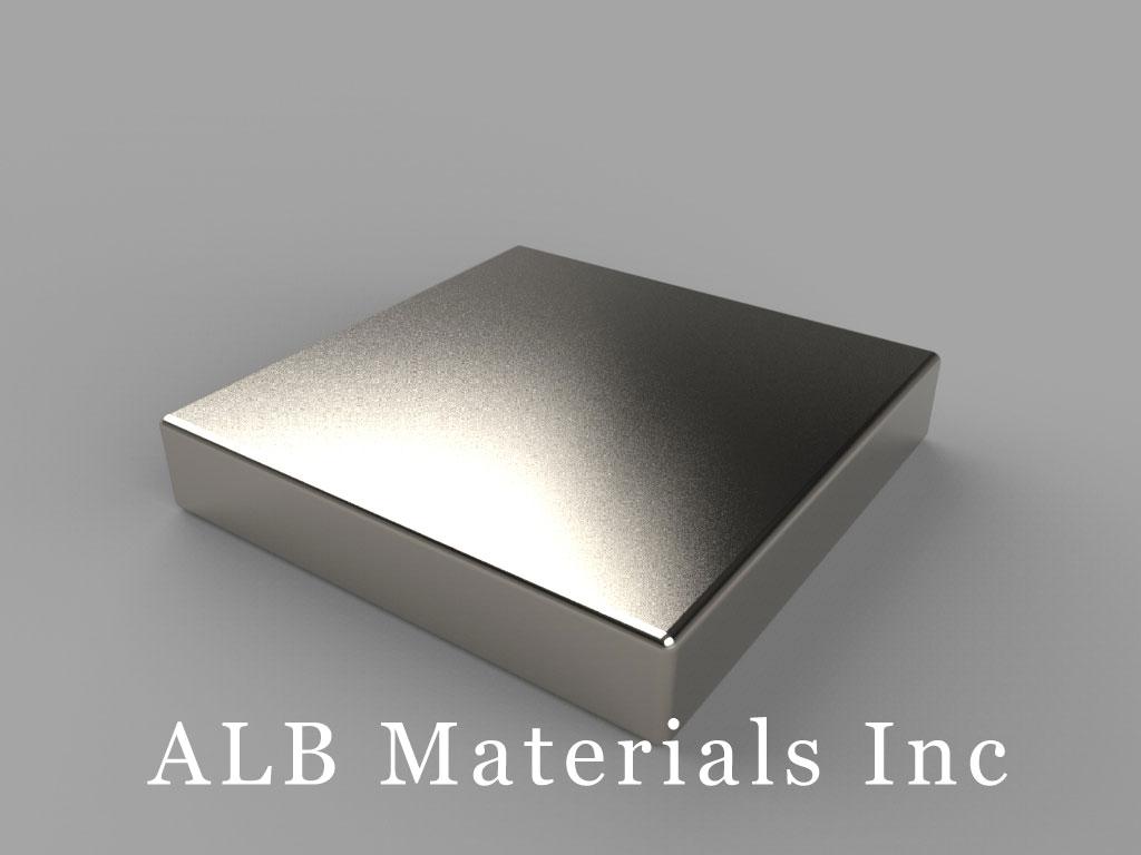 "BX0X03 Neodymium Magnets, 1"" x 1"" x 3/16"" thick"