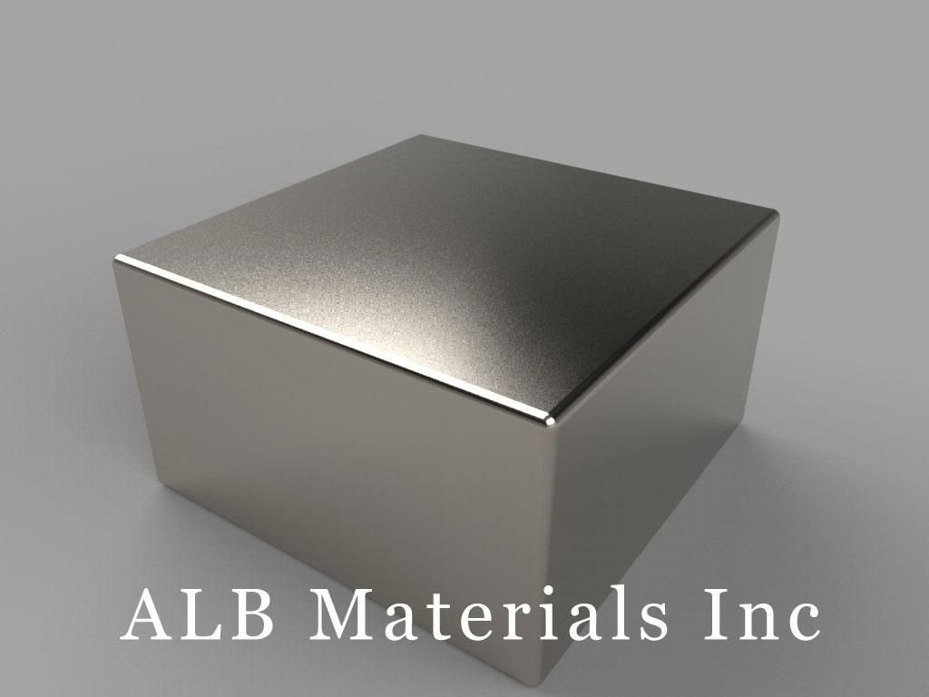 "BX0X09 Neodymium Magnets, 1"" x 1"" x 9/16"" thick"