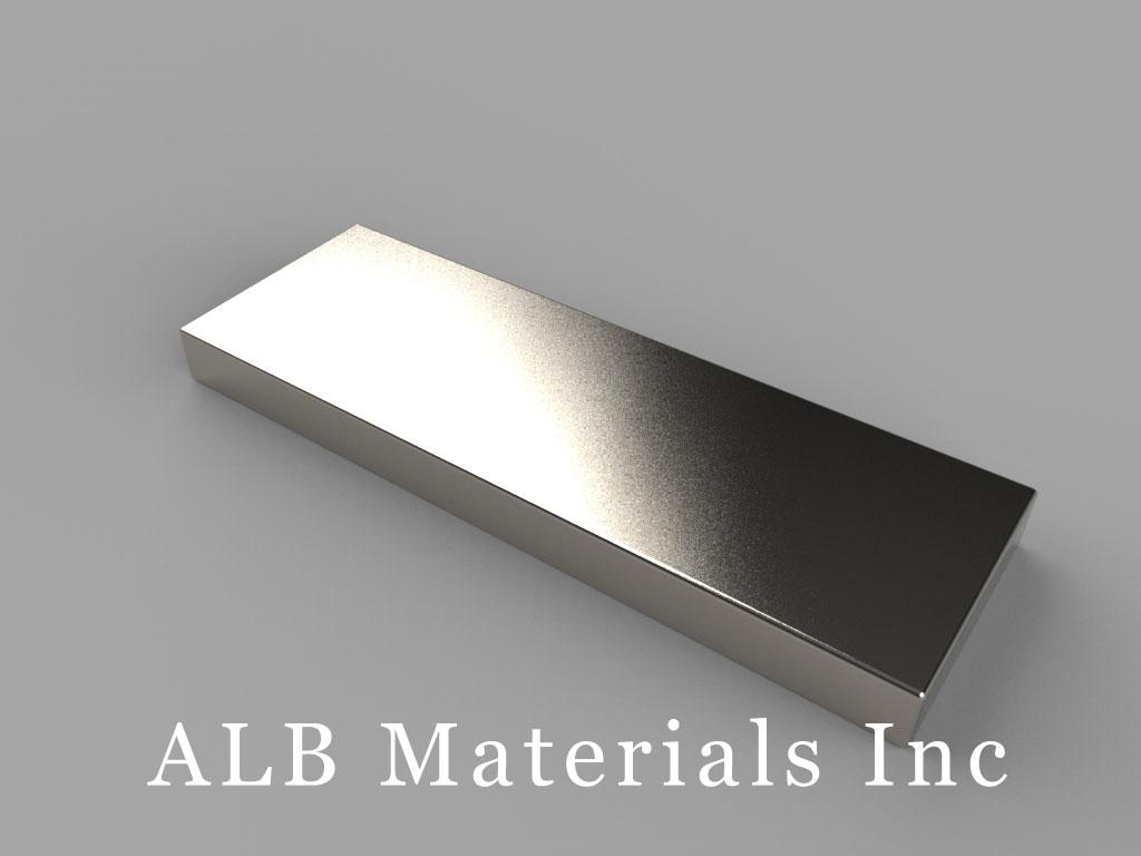 """BX882-N52 Neodymium Magnets, 1 1/2"""" x 1/2"""" x 1/8"""" thick"""