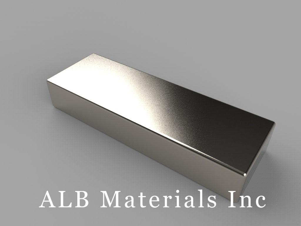 """BX884 Neodymium Magnets, 1 1/2"""" x 1/2"""" x 1/4"""" thick"""