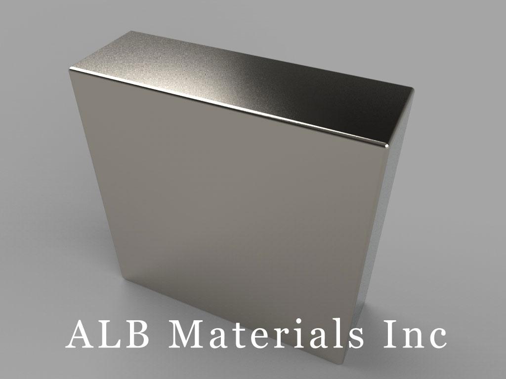 "BX88X8 Neodymium Magnets, 1 1/2"" x 1/2"" x 1 1/2"" thick"