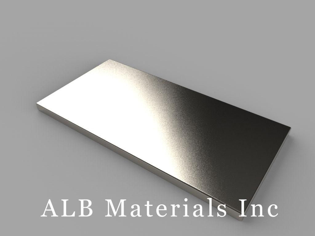 BX8C1 Neodymium Magnets, 1 1/2 inch x 3/4 inch x 1/16 inch thick