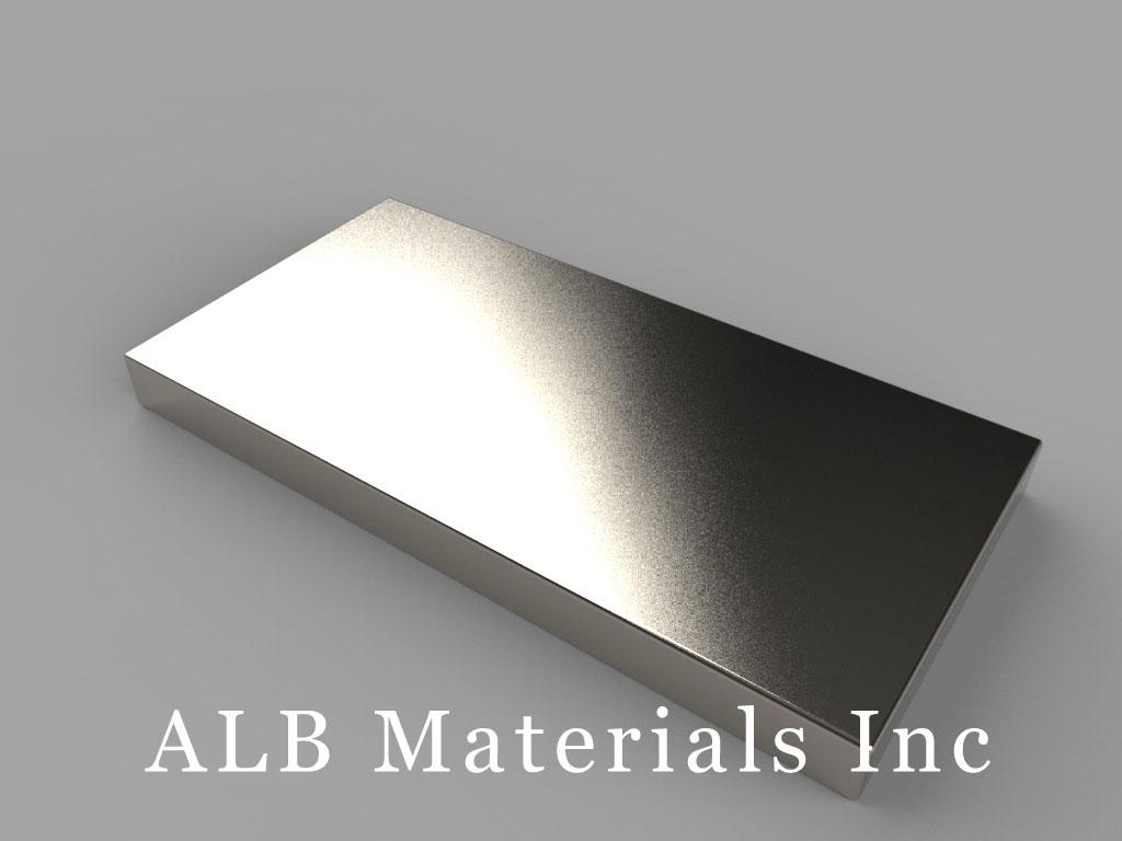 """BX8C2 Neodymium Magnets, 1 1/2"""" x 3/4"""" x 1/8"""" thick"""