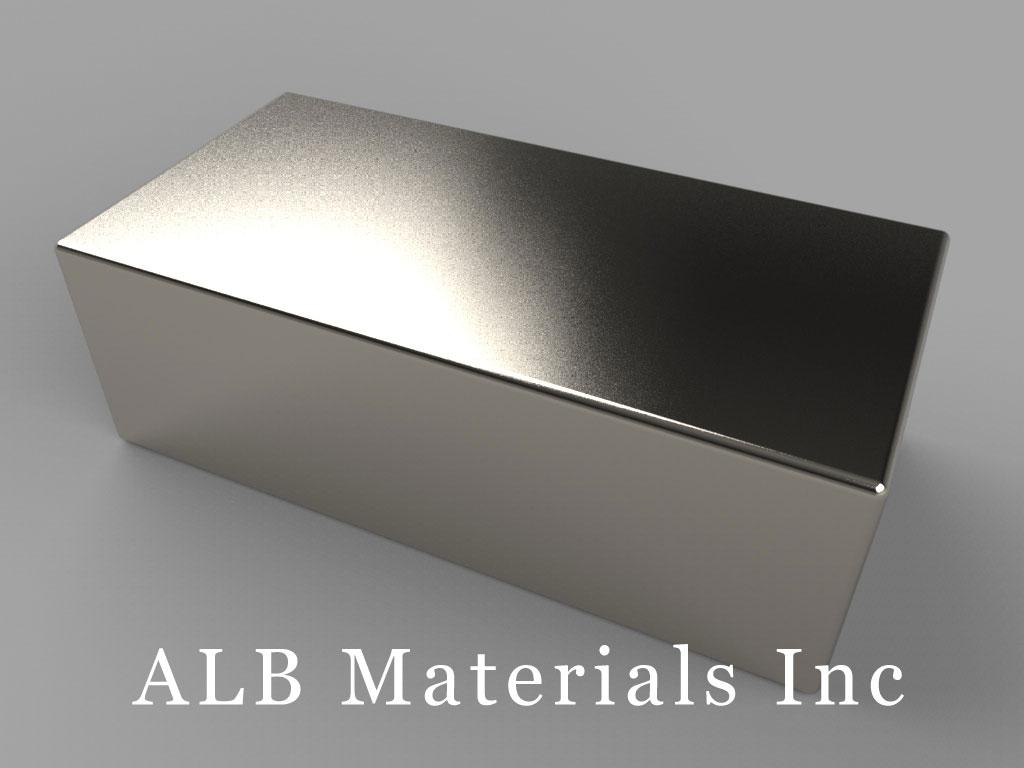 """BX8C8 Neodymium Magnets, 1 1/2"""" x 3/4"""" x 1/2"""" thick"""