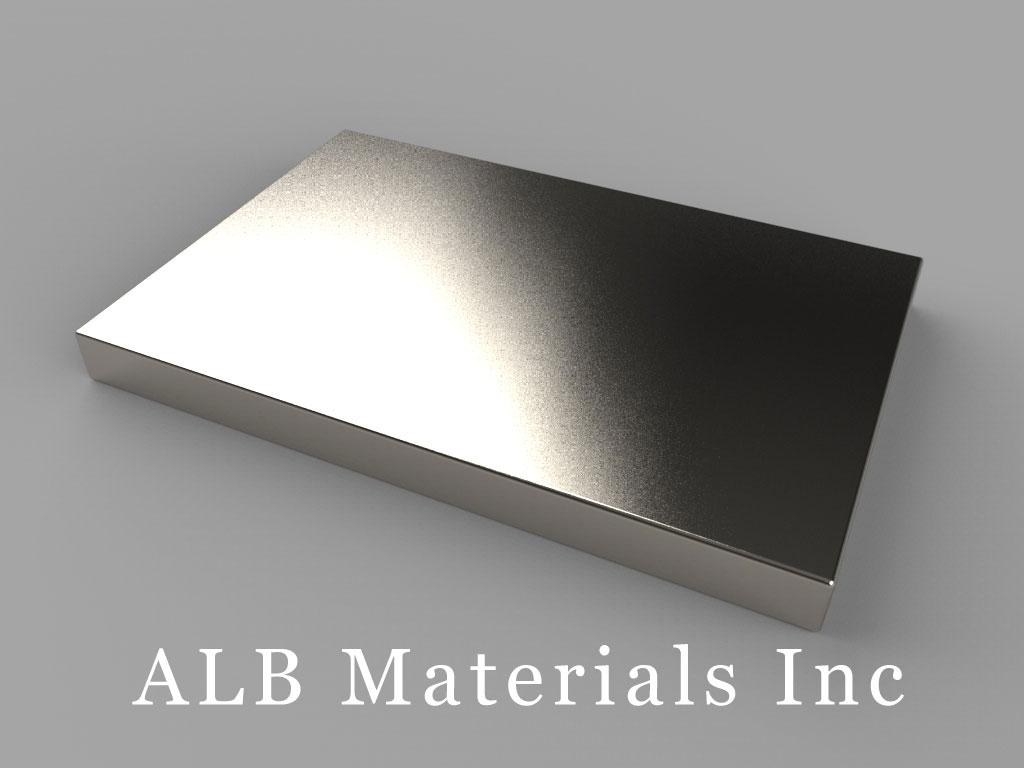 "BX8X02 Neodymium Magnets, 1 1/2"" x 1"" x 1/8"" thick"