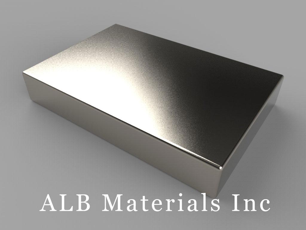 "BX8X04 Neodymium Magnets, 1 1/2"" x 1"" x 1/4"" thick"