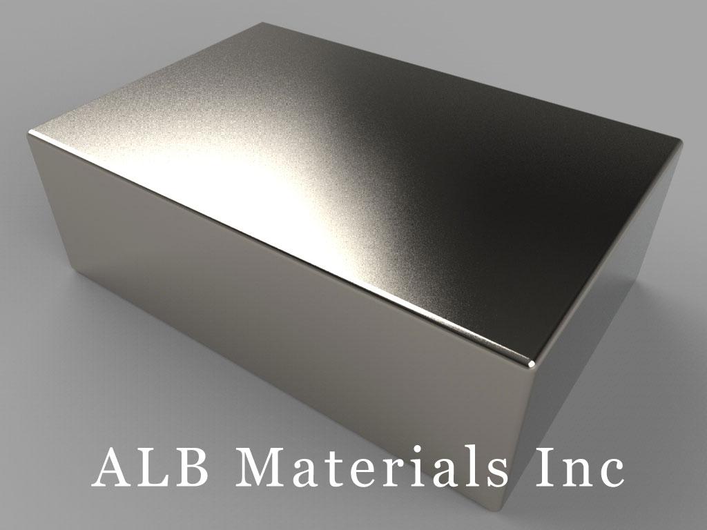 "BX8X08 Neodymium Magnets, 1 1/2"" x 1"" x 1/2"" thick"