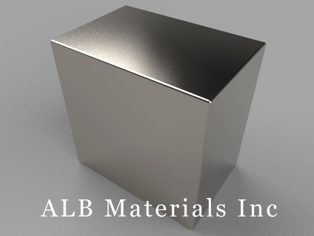 BX8X0X8 Neodymium Magnets, 1 1/2 inch x 1 inch x 1 1/2 inch thick