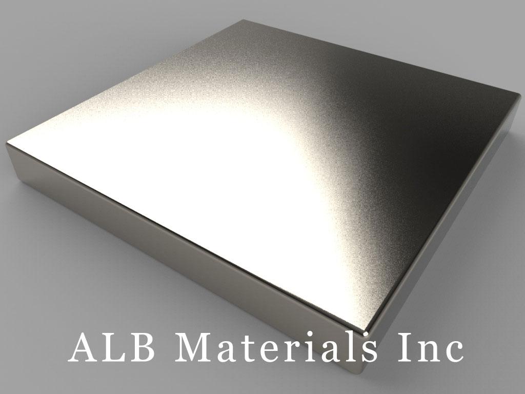 BX8X83 Neodymium Magnets, 1 1/2 inch x 1 1/2 inch x 3/16 inch thick