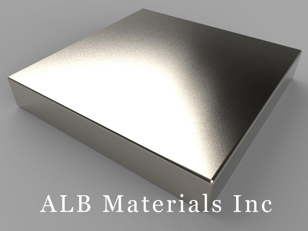 "BX8X84 Neodymium Magnets, 1 1/2"" x 1 1/2"" x 1/4"" thick"