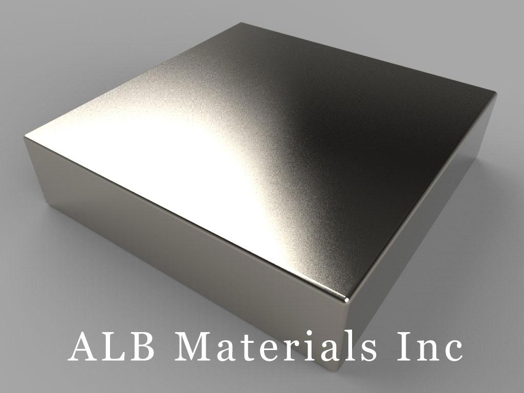 "BX8X86 Neodymium Magnets, 1 1/2"" x 1 1/2"" x 3/8"" thick"