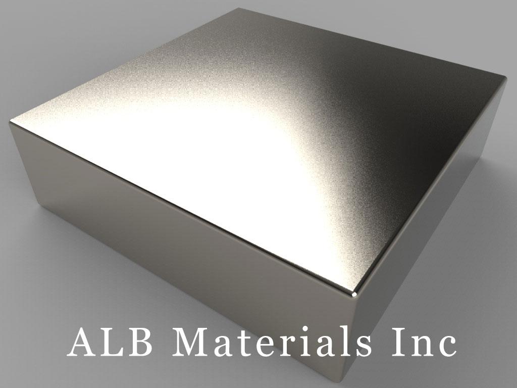 "BX8X87 Neodymium Magnets, 1 1/2"" x 1 1/2"" x 7/16"" thick"