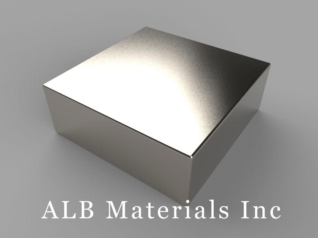 "BX8X89 Neodymium Magnets, 1 1/2"" x 1 1/2"" x 9/16"" thick"
