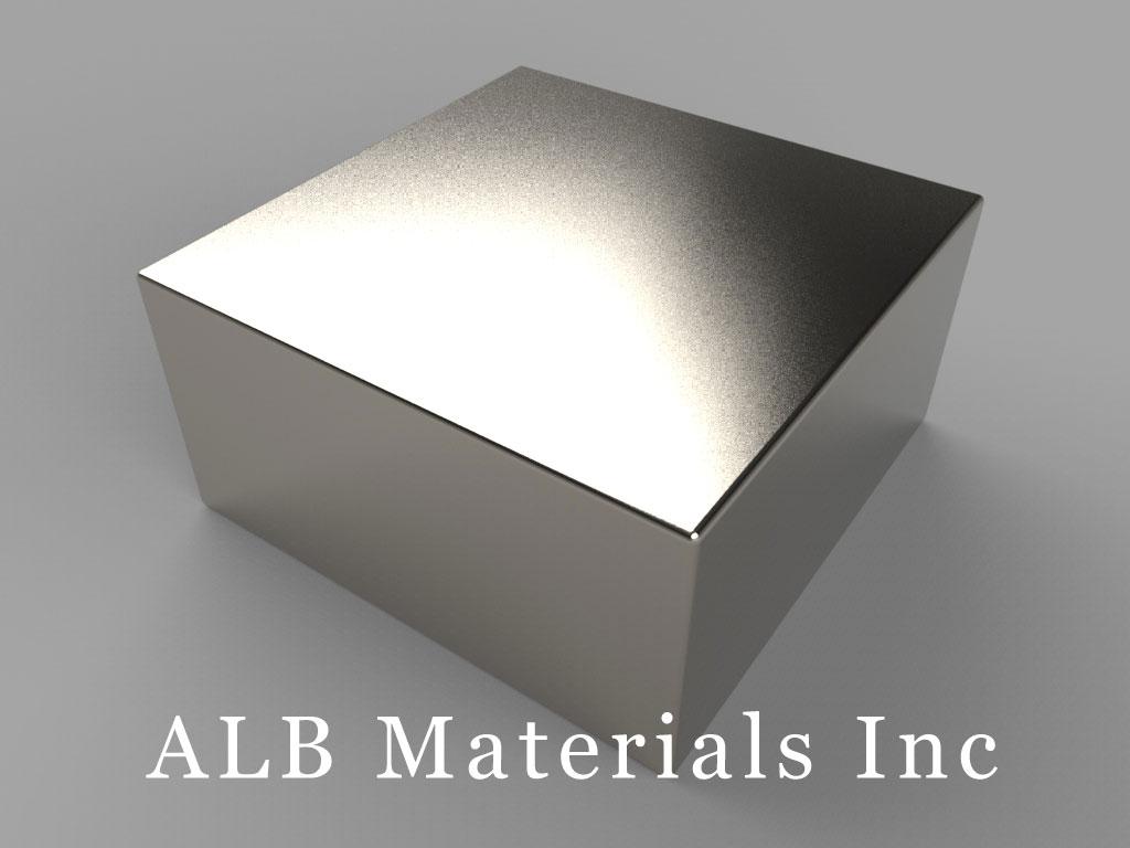 """BX8X8C-N52 Neodymium Magnets, 1 1/2"""" x 1 1/2"""" x 3/4"""" thick"""
