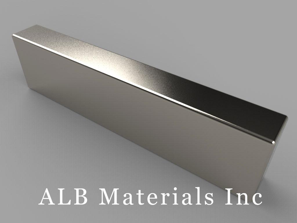 BY048 Neodymium Magnets, 2 inch x 1/4 inch x 1/2 inch thick