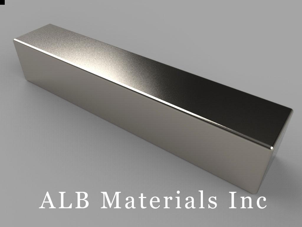 BY066 Neodymium Magnets, 2 inch x 3/8 inch x 3/8 inch thick